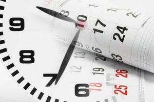 Uhr und Terminkalender