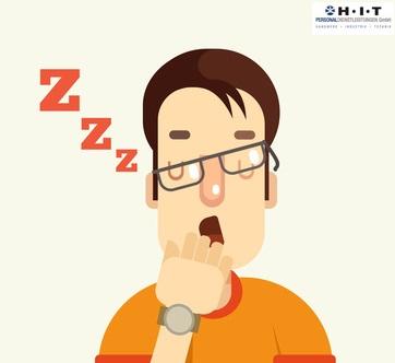 Gähnen, Phänomen entschlüsselt? illustriert durch Mann beim Gähnen