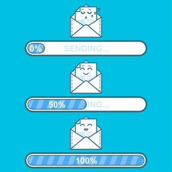 Email-Icon mit Ladebalken visualisiert das Thema Inbox Zero: So klappt es endlich!
