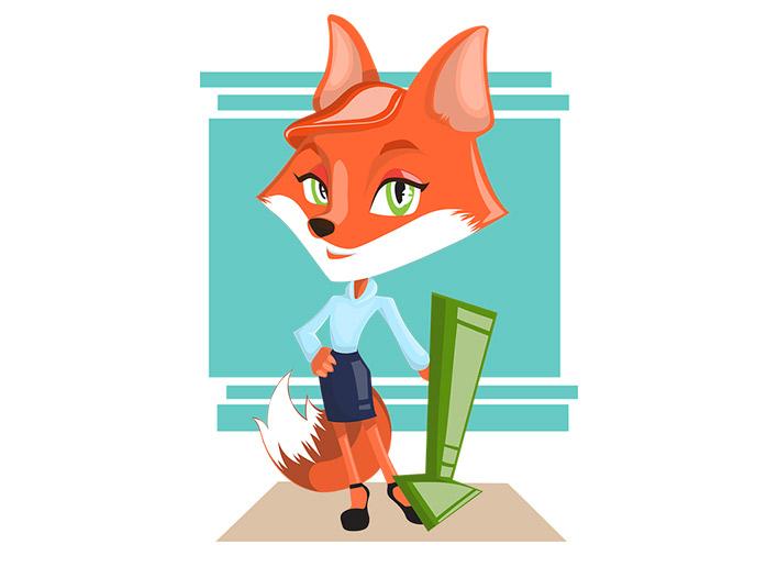 illustrierter Fuchs