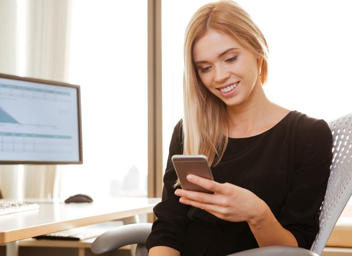 Smartphone auf der Arbeit
